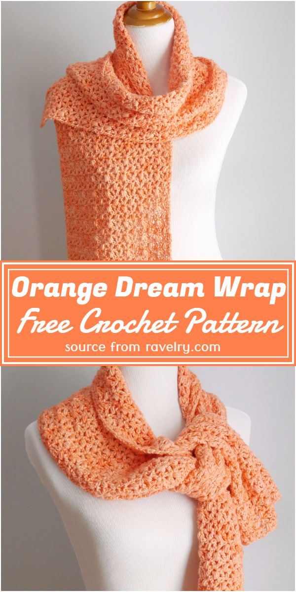 Crochet Orange Dream Wrap Free Pattern