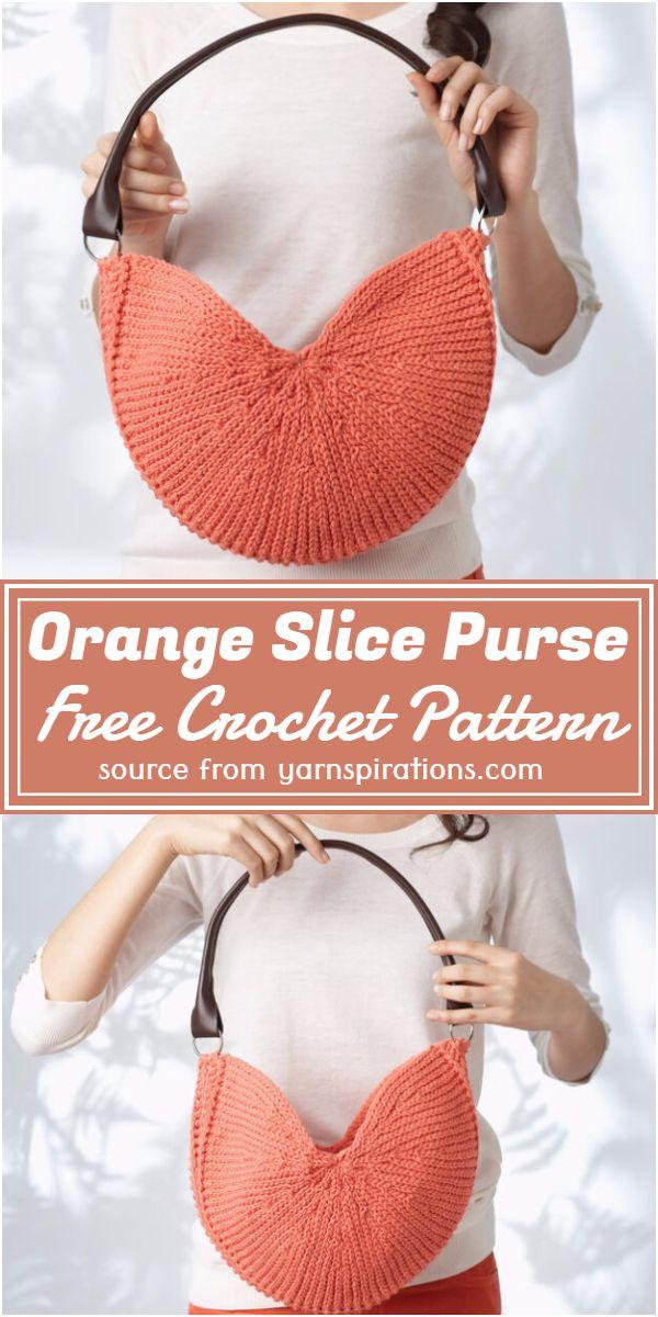 Crochet Orange Slice Purse Free Pattern