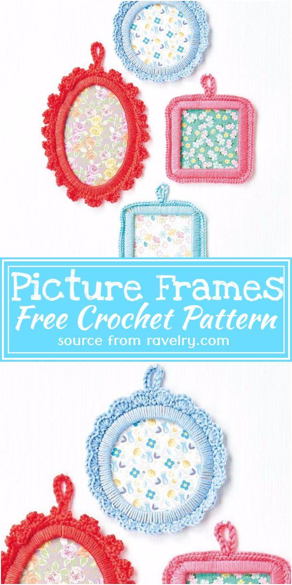 Crochet Picture Frames Free Pattern