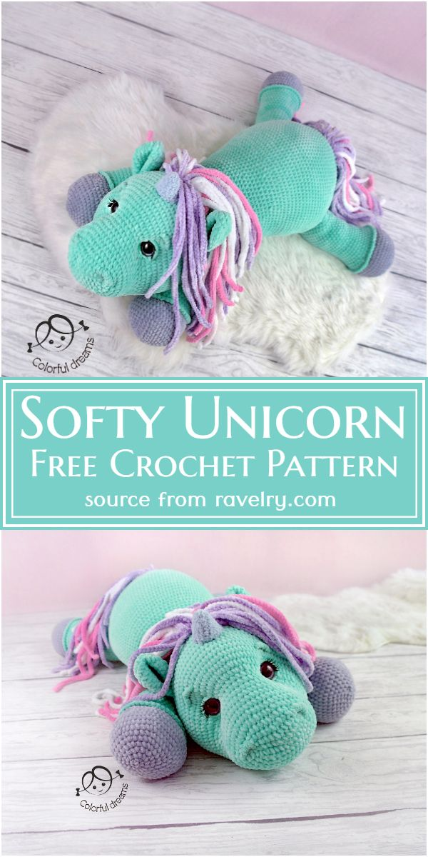Crochet Softy Unicorn Pattern