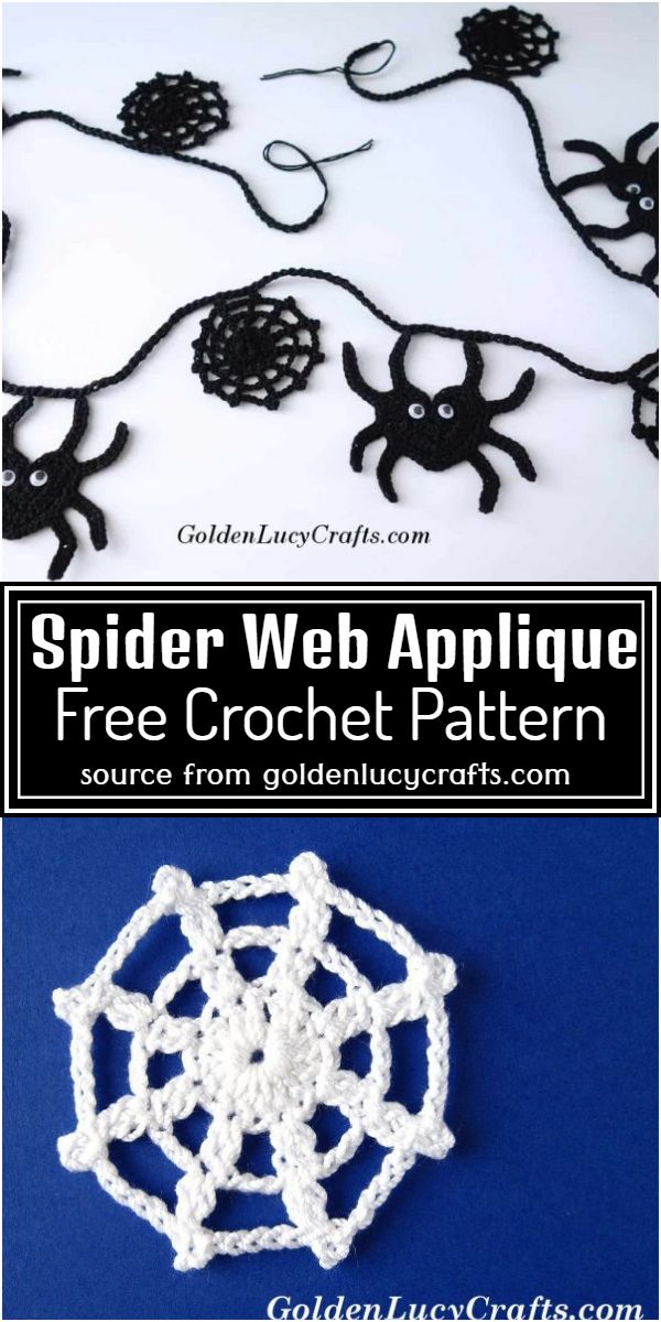Web Applique Free Pattern