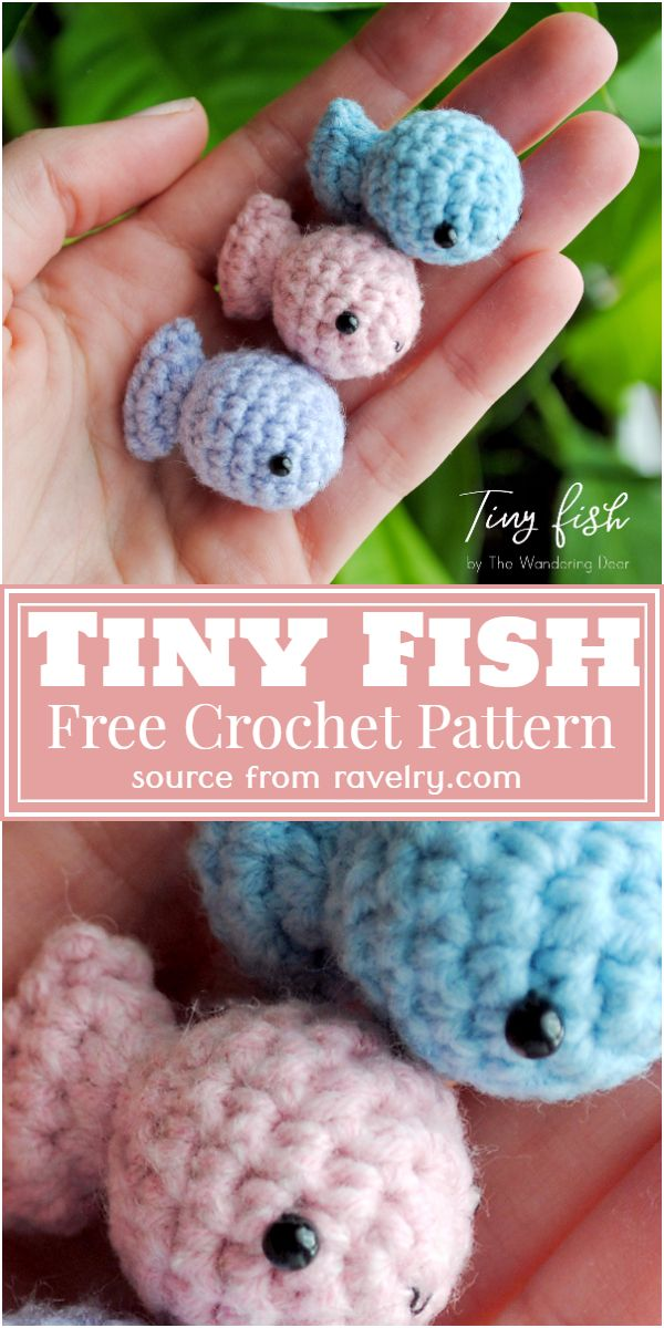 Crochet Tiny Fish Pattern