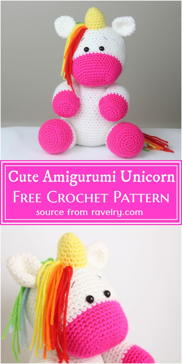 Cute Crochet Amigurumi Unicorn Pattern