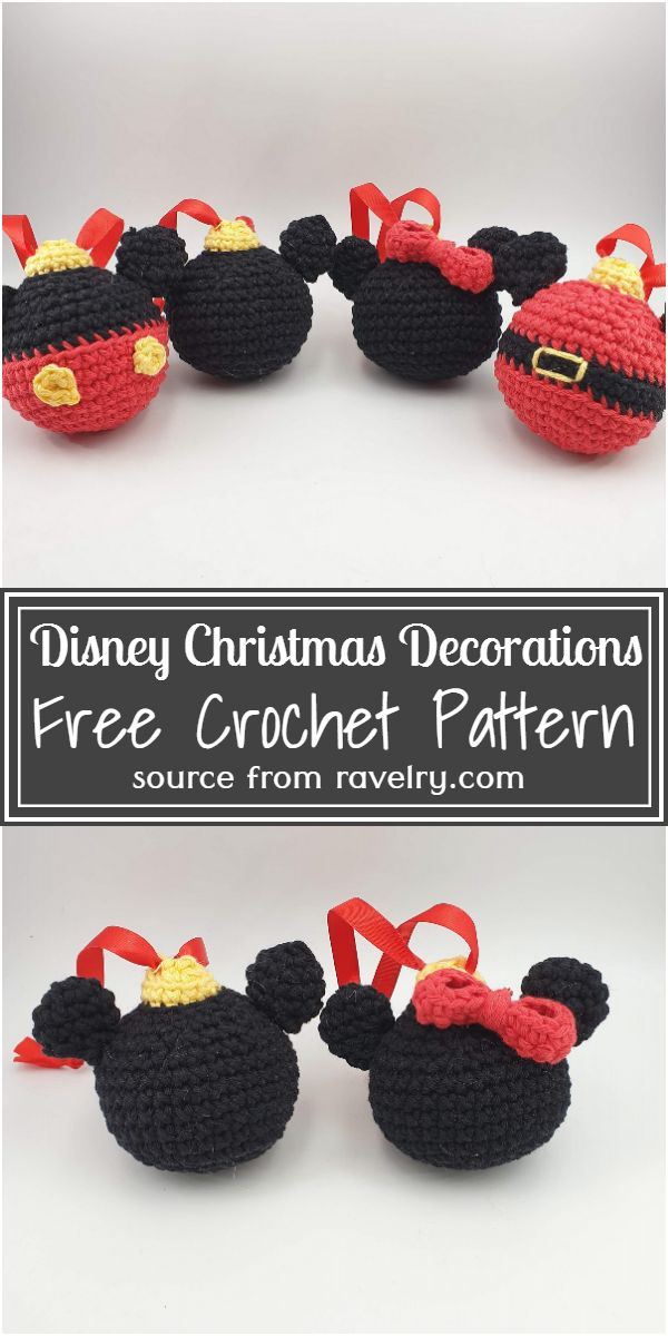 Disney Crochet Christmas Decorations Free Pattern
