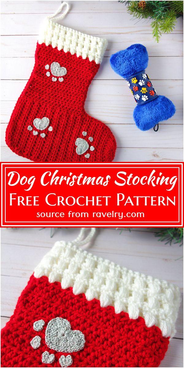Dog Christmas Stocking Crochet Pattern