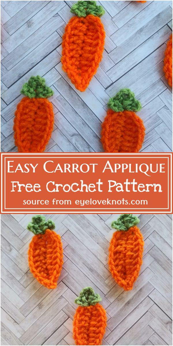 Easy Carrot Applique Crochet Pattern