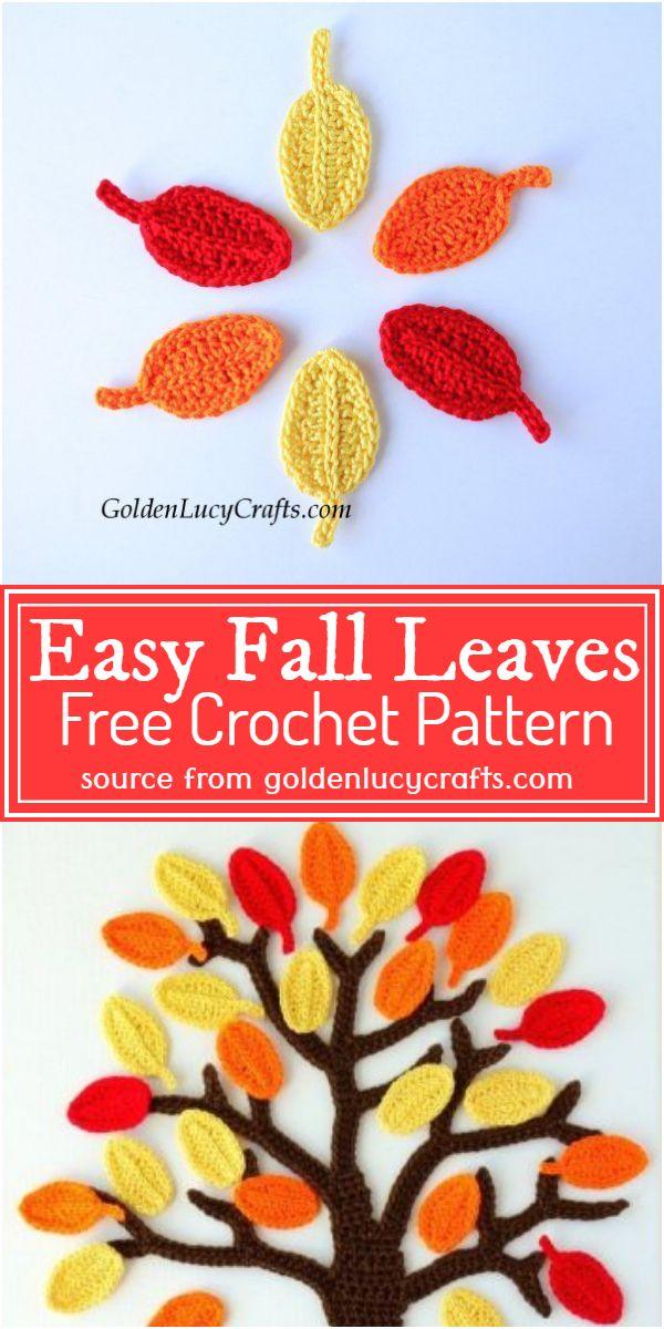 Easy Fall Leaves Crochet Pattern