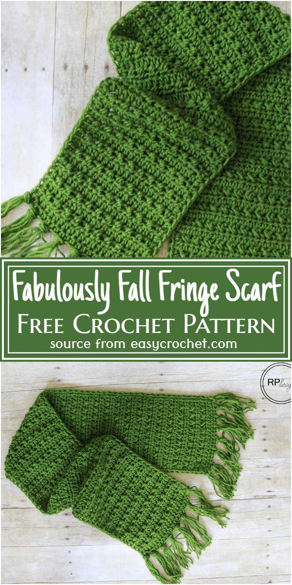 Fabulously Fall Fringe Scarf Crochet Pattern