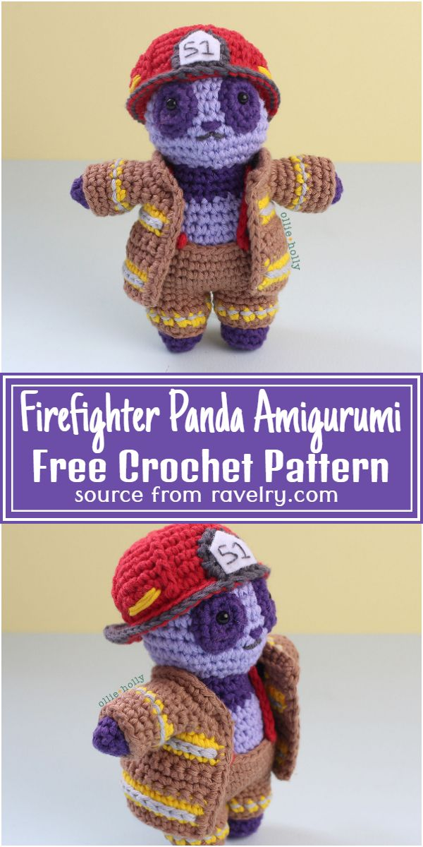 Firefighter Amigurumi Free Pattern