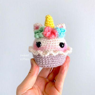 Floral Cupcake Crochet Unicorn Pattern