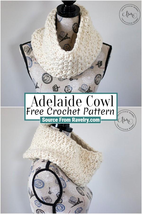 Free Crochet Adelaide Cowl