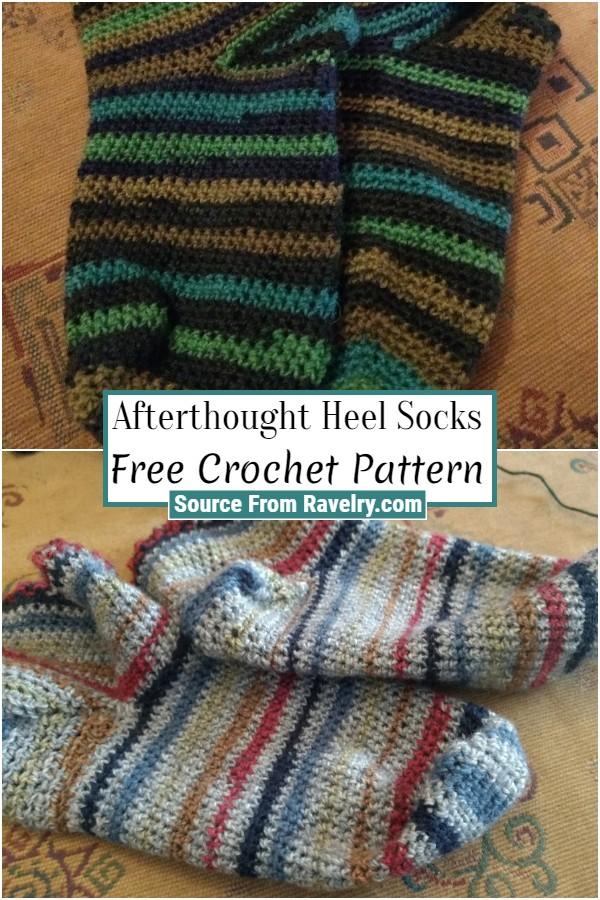 Free Crochet Afterthought Heel Socks