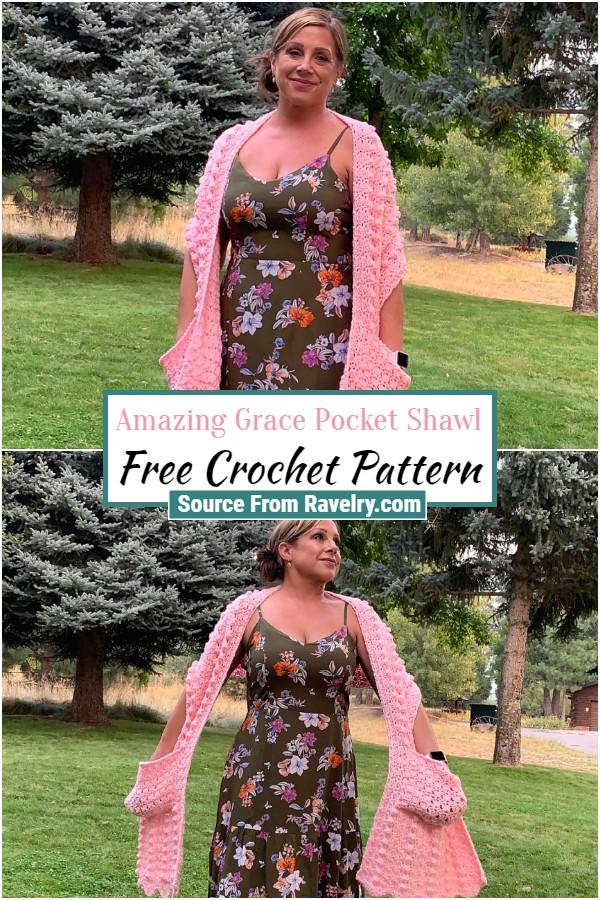 Free Crochet Amazing Grace Pocket Shawl