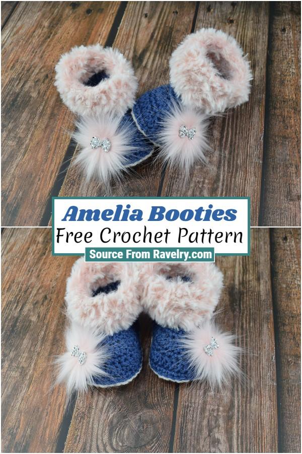 Free Crochet Amelia Booties
