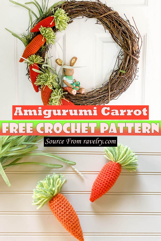 Free Crochet Amigurumi Carrot Pattern