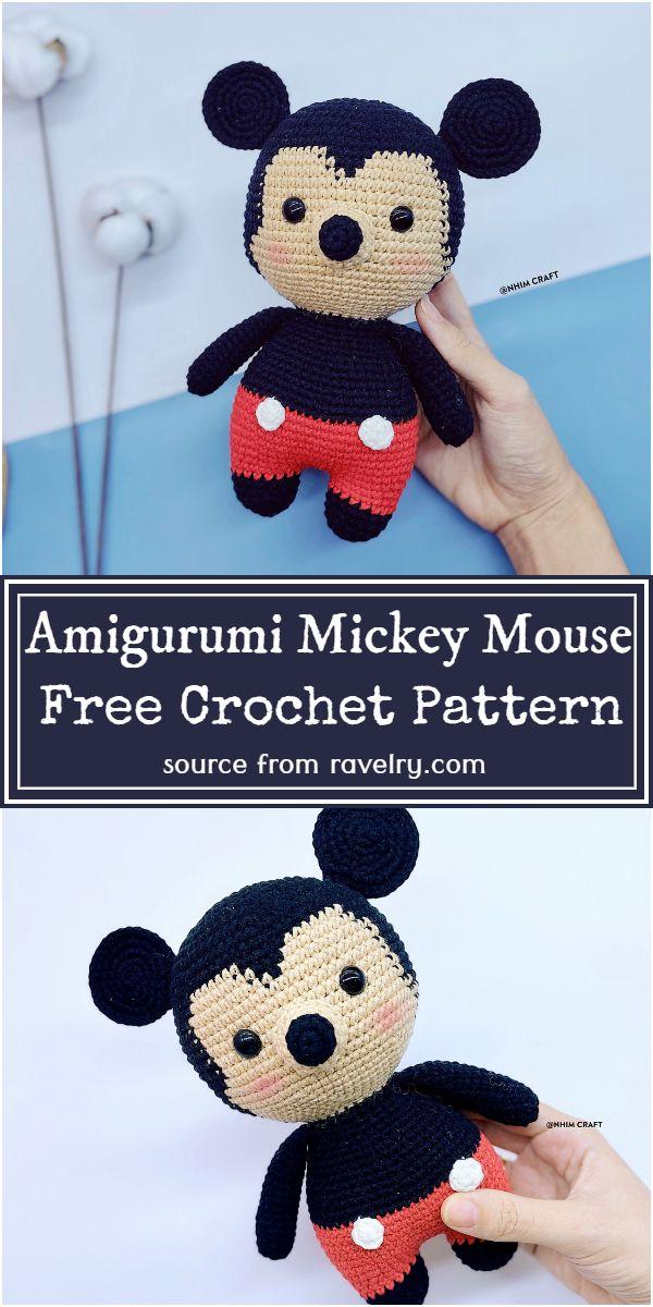 Free Crochet Amigurumi Mickey Mouse Pattern