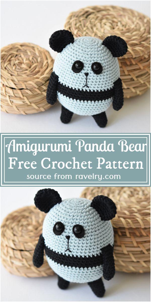 Free Crochet Amigurumi Panda Bear Pattern