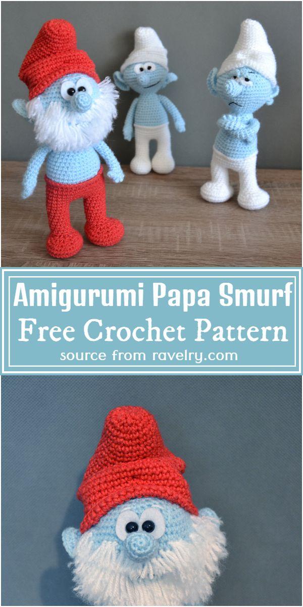 Free Crochet Amigurumi Papa Smurf Pattern