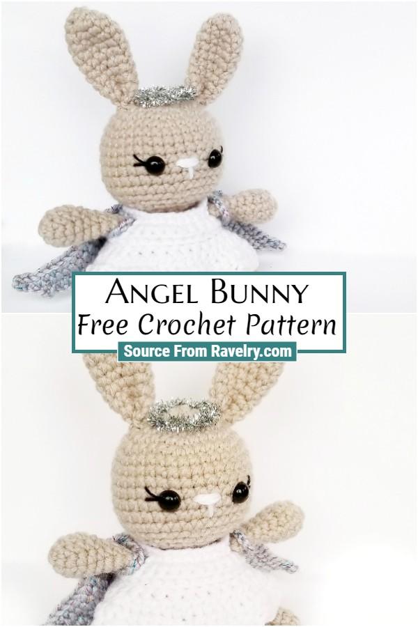 Free Crochet Angel Bunny