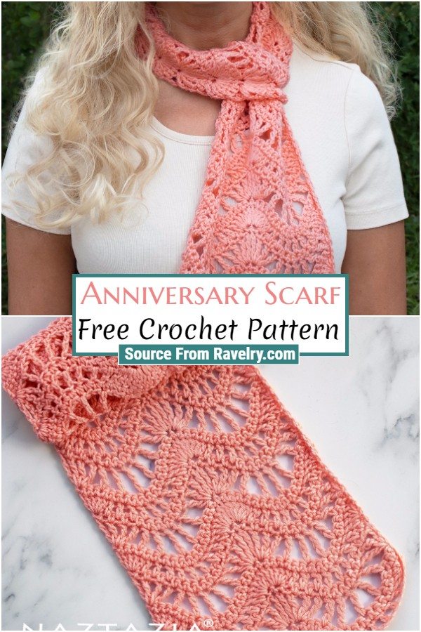 Free Crochet Anniversary Scarf
