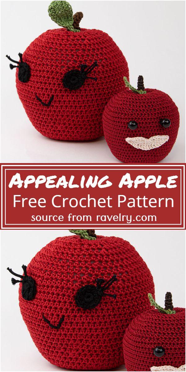 Free Crochet Appealing Apple Pattern