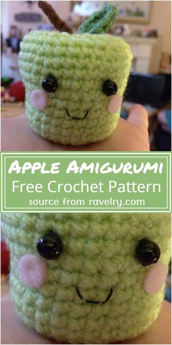 Free Crochet Apple Amigurumi Pattern