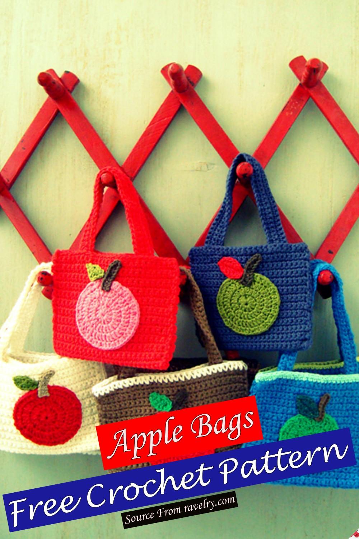 Free Crochet Apple Bags Pattern