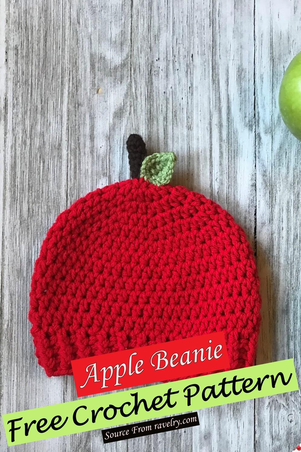 Free Crochet Apple Beanie Pattern