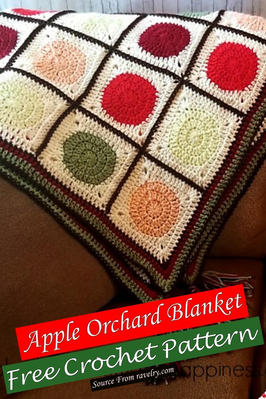 Free Crochet Apple Orchard Blanket Pattern