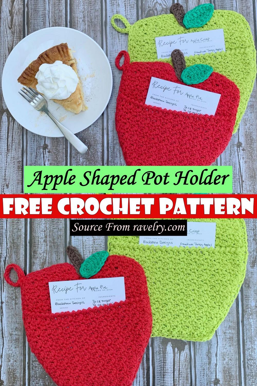 Free Crochet Apple Shaped Pot Holder Pattern