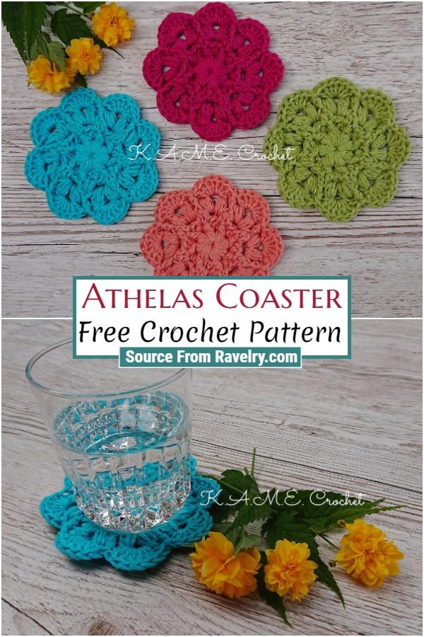 Free Crochet Athelas Coaster