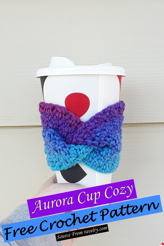 Free Crochet Aurora Cup Cozy Pattern