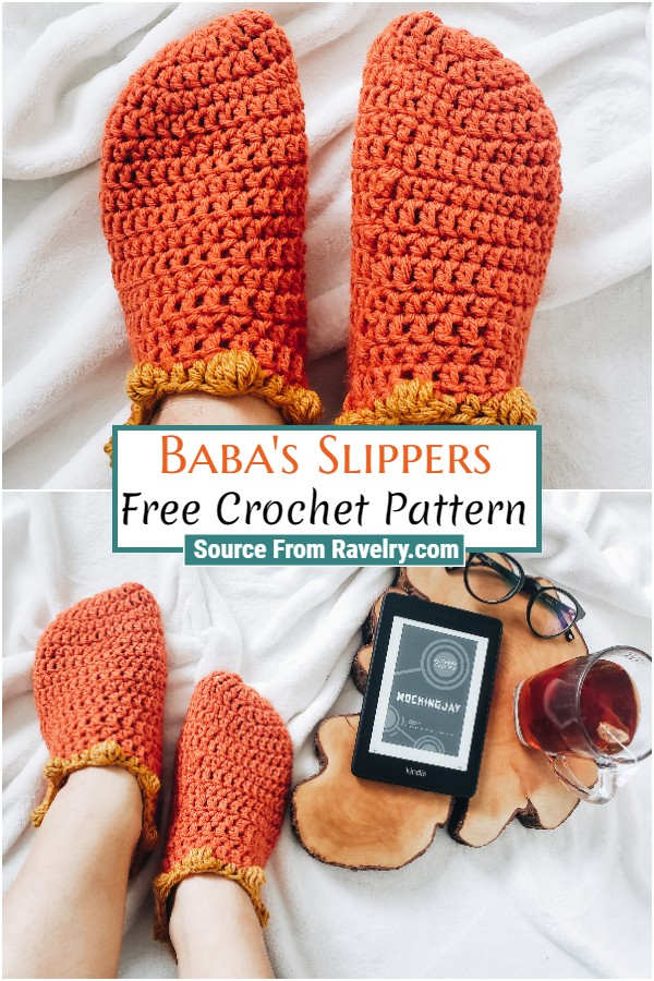 Free Crochet Baba's Slippers