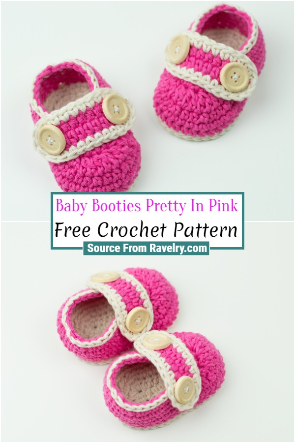 Free Crochet Baby Booties Pretty In Pink