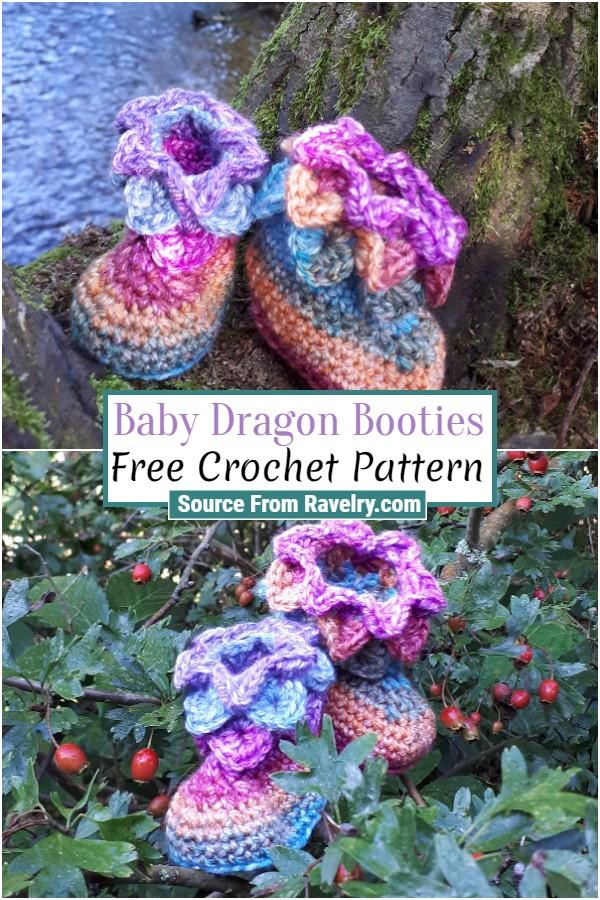 Free Crochet Baby Dragon Booties