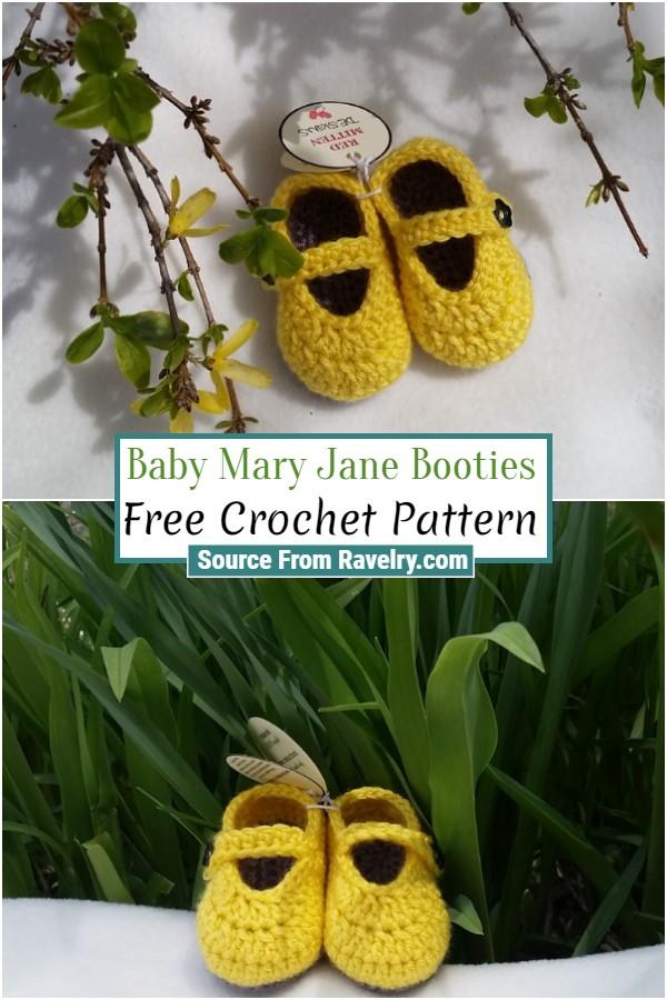 Free Crochet Baby Mary Jane Booties
