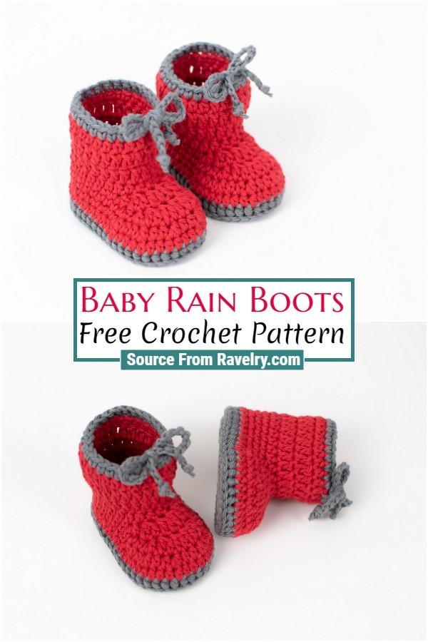 Free Crochet Baby Rain Boots