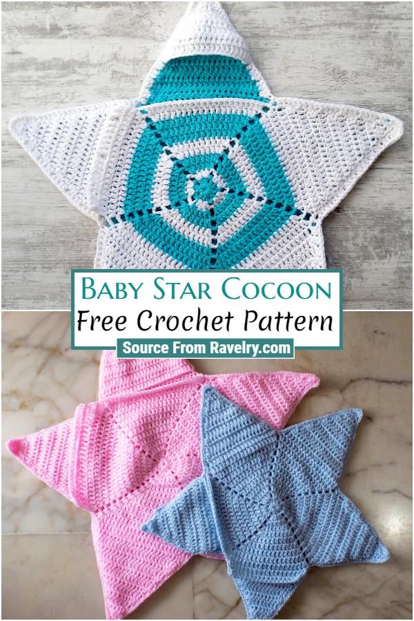 Free Crochet Baby Star Cocoon