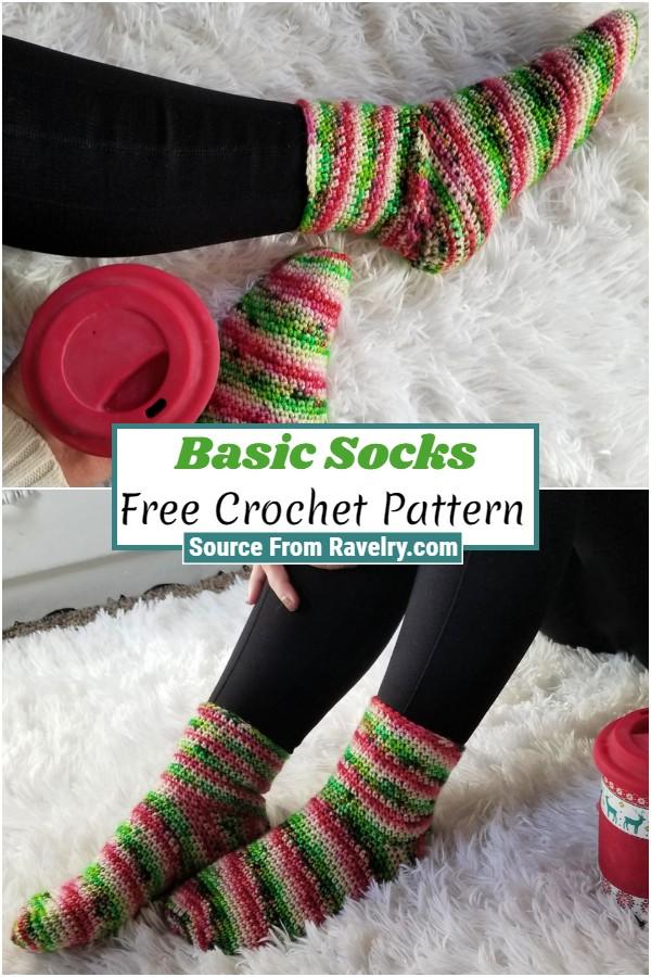 Free Crochet Basic Socks