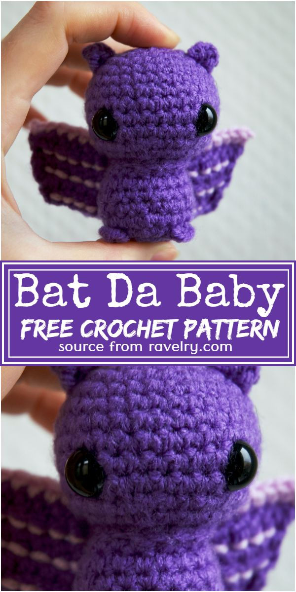 Free Crochet Bat Da Baby Pattern