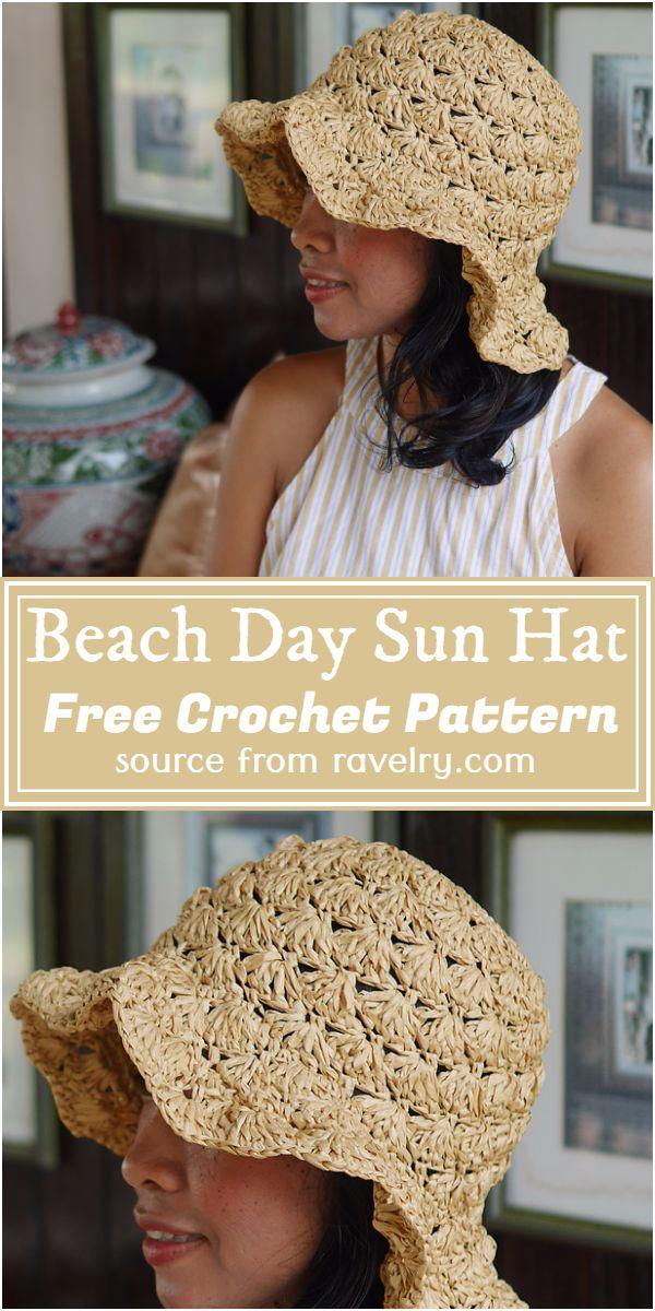 Free Crochet Beach Day Sun Hat Pattern