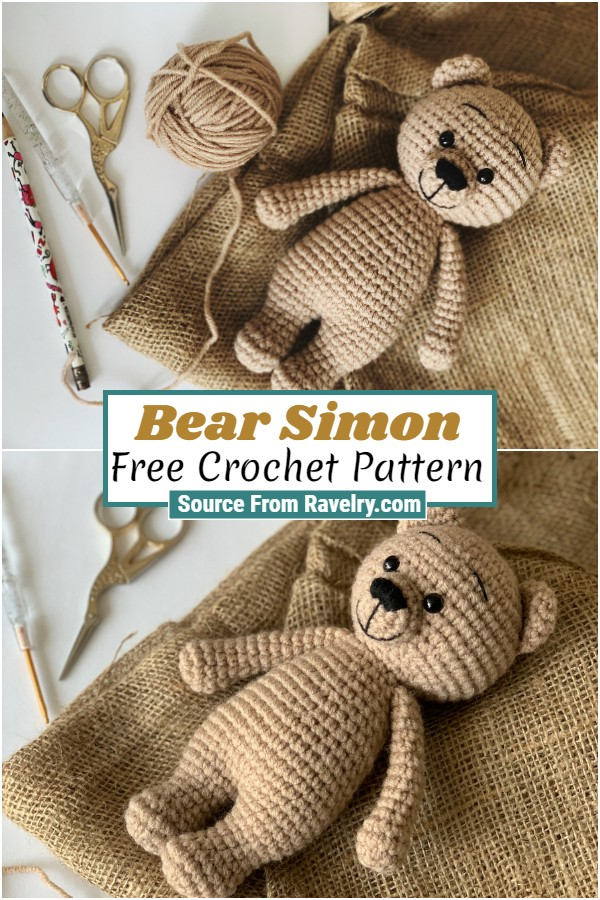 Free Crochet Bear Simon