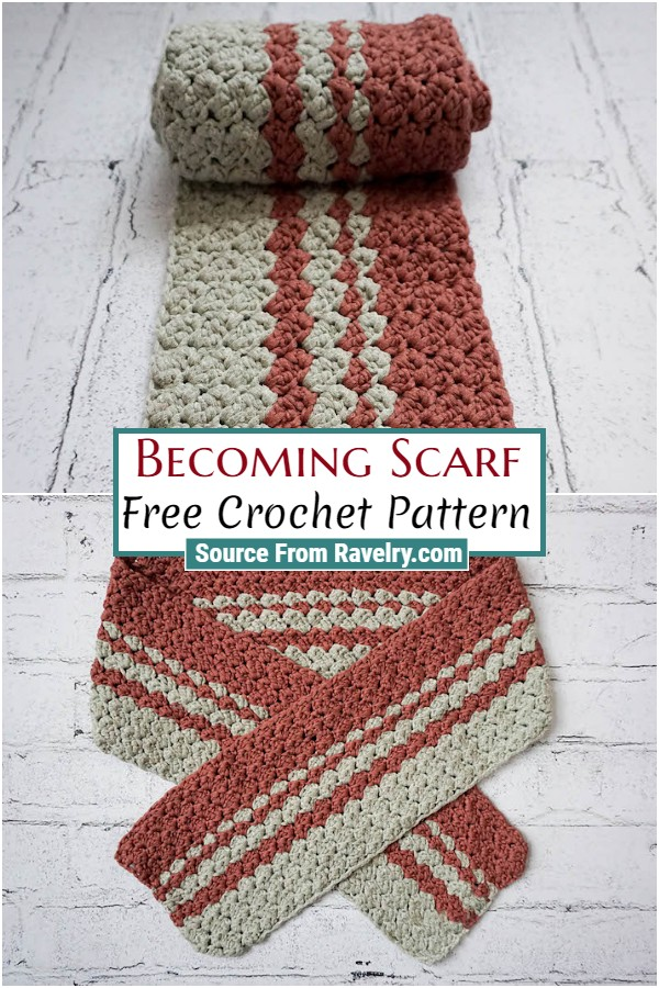 Free Crochet Becoming Scarf