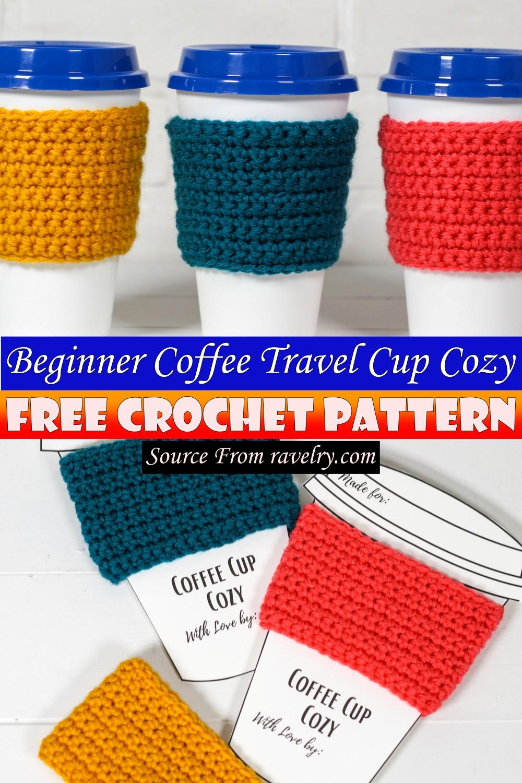 Free Crochet Beginner Coffee Travel Cup Cozy Pattern