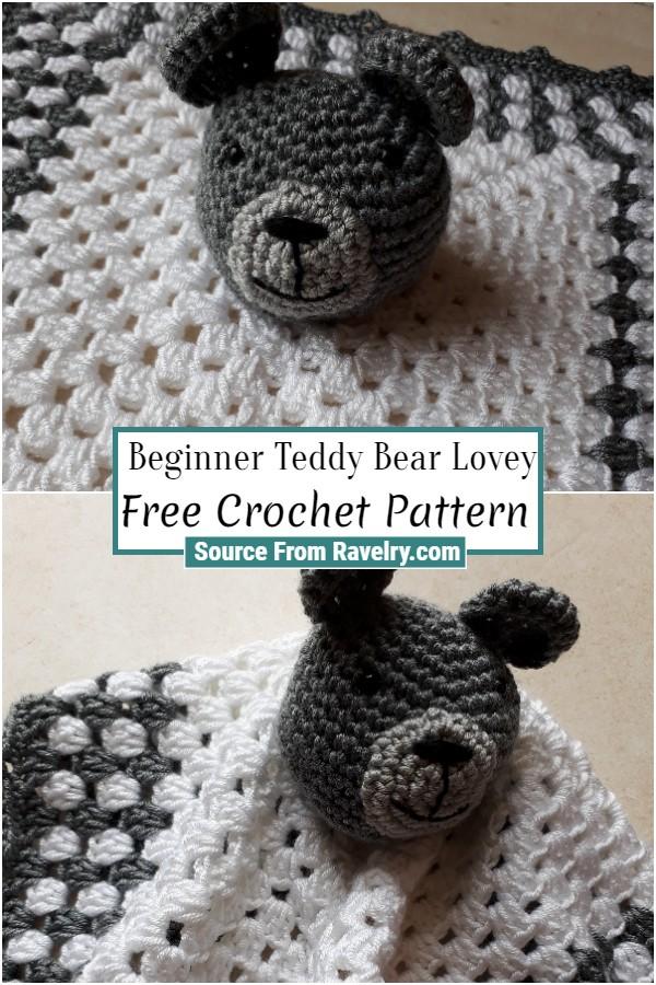 Free Crochet Beginner Teddy Bear Lovey