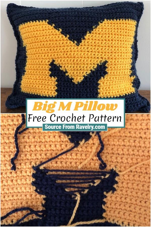 Free Crochet Big M Pillow 1