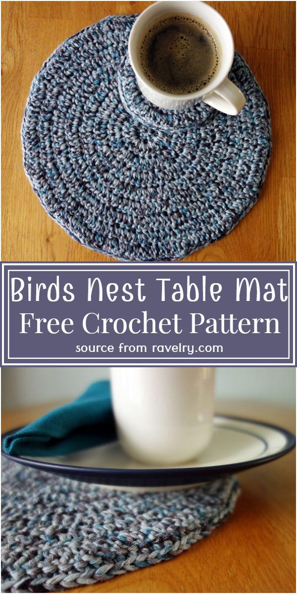 Free Crochet Birds Nest Table Mat Pattern