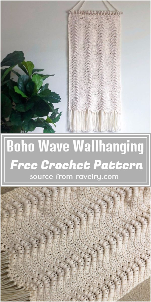 Free Crochet Boho Wave Wallhanging Pattern