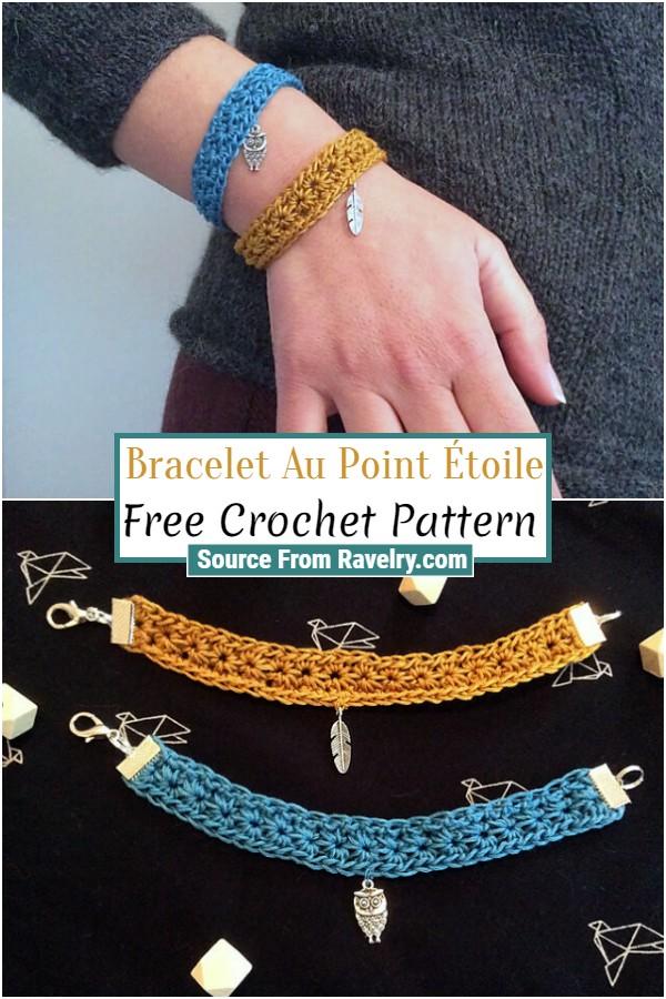 Free Crochet Bracelet Au Point Étoile