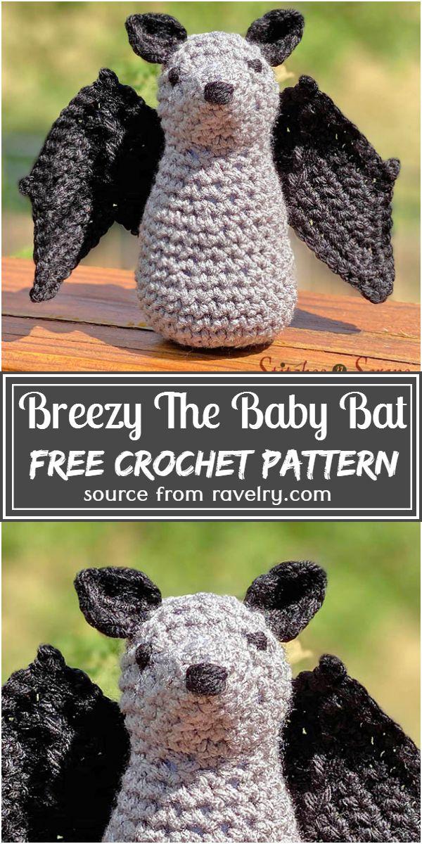 Free Crochet Breezy The Baby Bat Pattern